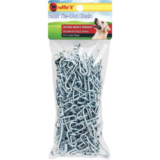 Westminster Pet Ruffin' it Extra Heavy Weight Large Dog Tie-Out Chain, 20 Ft.